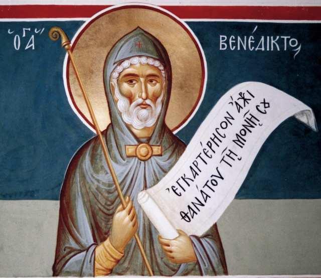 Hl. Benedikt mit gr. Band